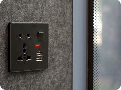 15. OB-L Silent Office & Meeting Pod power socket