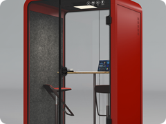 15. OB-M Red Silent Office & Meeting Pod
